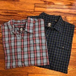 Lot of 2 Timberland Long Sleeve Button Up Shirts